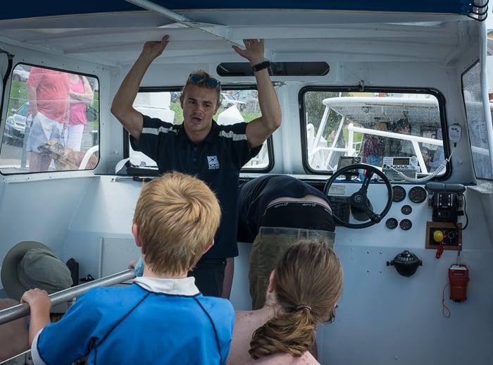 Jervis bay snorkel boat trip kids
