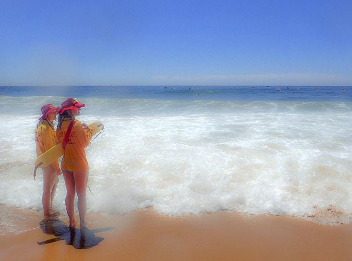 Macquarie Big Swim Palm Beach 2015 life guards