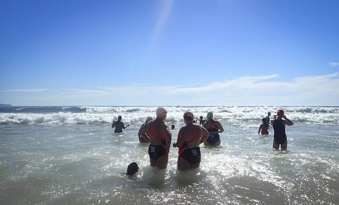 Macquarie Big Swim 2015 checking surf