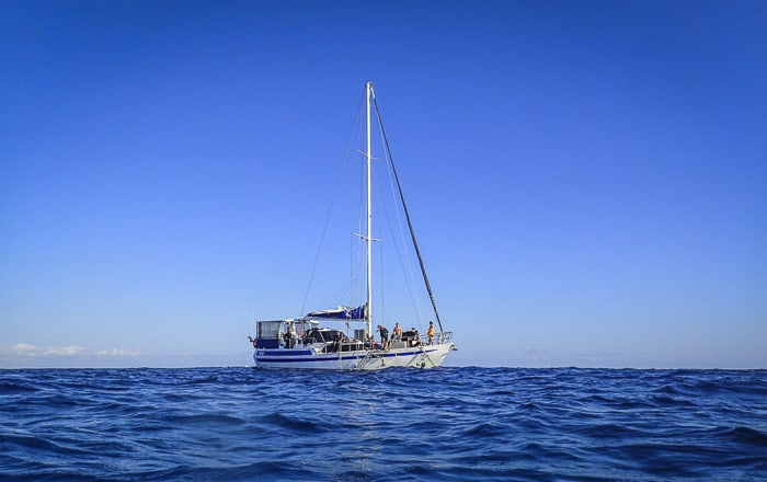 Yacht trip to Great Barrier Reef Coral Sea Dreaming