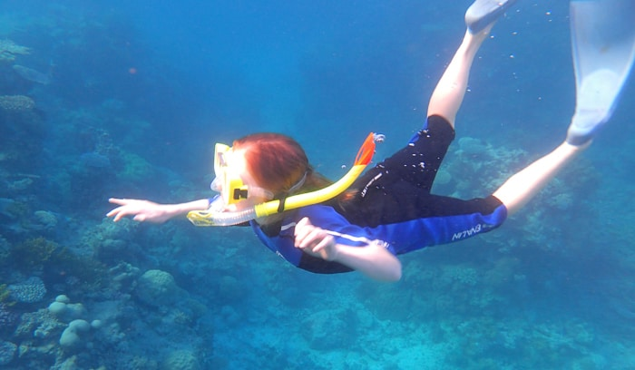 Kids Snorkelling on the Great Barrier Reef