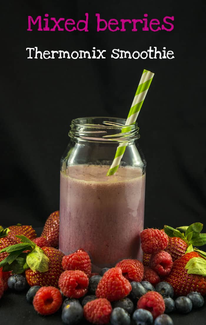Thermomix smoothie mixed berry