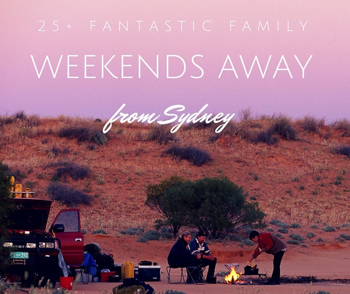 family weekends away from Sydney small