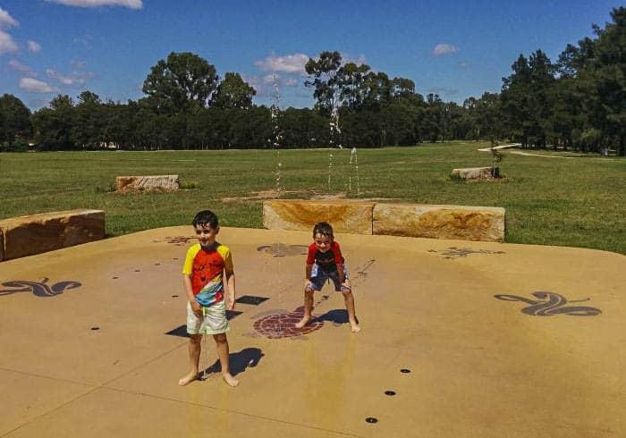 Werrington Lakes playground splash water