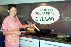 Five Ways To Get Kids Cooking In The Kitchen + A Giveaway