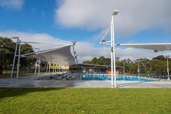 Grassed area next to 50m pool Hornsby