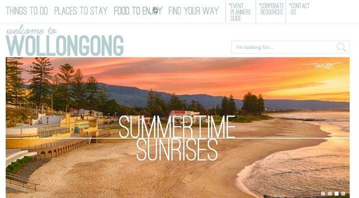 Visit Wollongong website