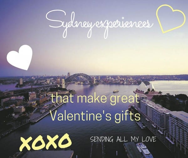 Sydney experiences for valentines Day