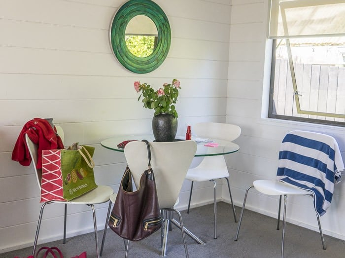 white painted wooden interiors beach house_1