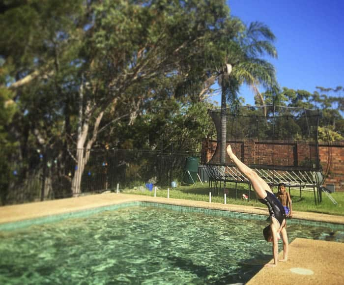 Iona handstand pool
