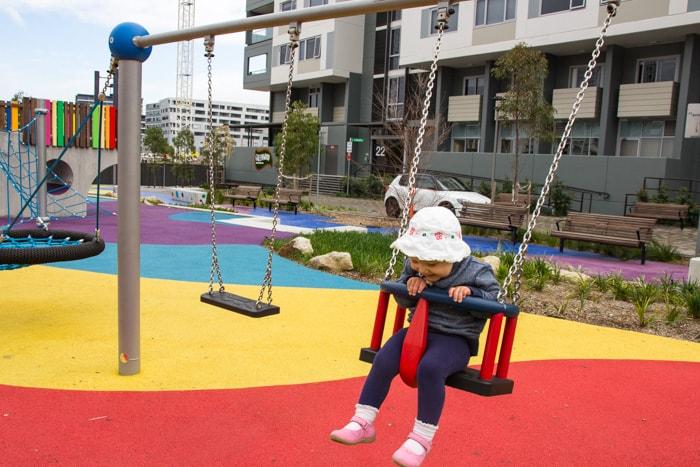 Swings at Wulaba Park playground