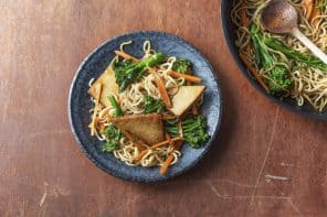 Asian Tofu with Crunchy Veg, Noodles & Hoisin  Sauce