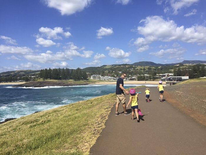 kiama kids walk coastal track