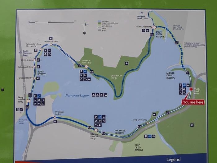 Narrabeen Lagoon trail map