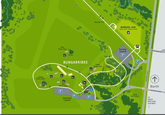 Bungarribee Park map