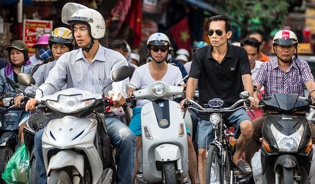 Vietnam city street scene