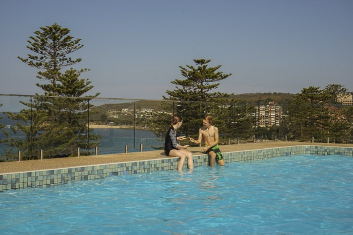 Novotel Manly Pacific rooftop pool