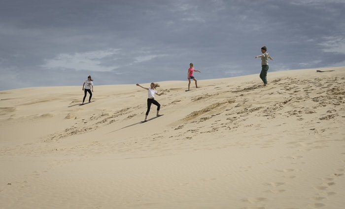 port stephens with kids things to do sand boarding