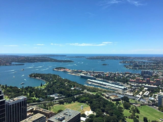 Sydney itinerary - Sydney Tower view