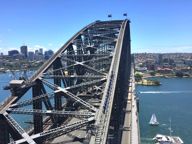 Sydney itinerary - pylon view