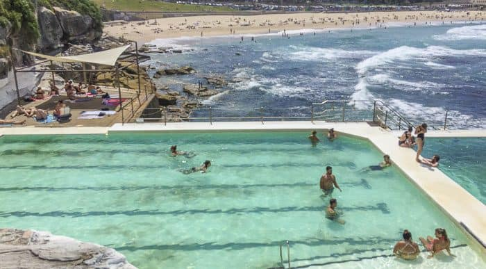 Bondi icebergs swimming children