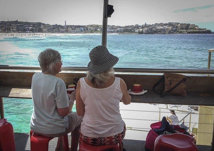 bondi icebergs club visit with family