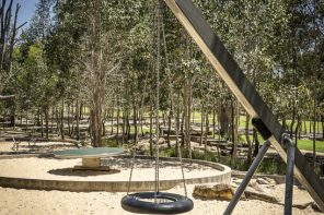 Lizard Log Park + Playground in Western Sydney Parklands