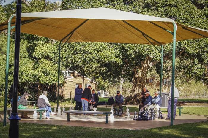 Burwood park chess board