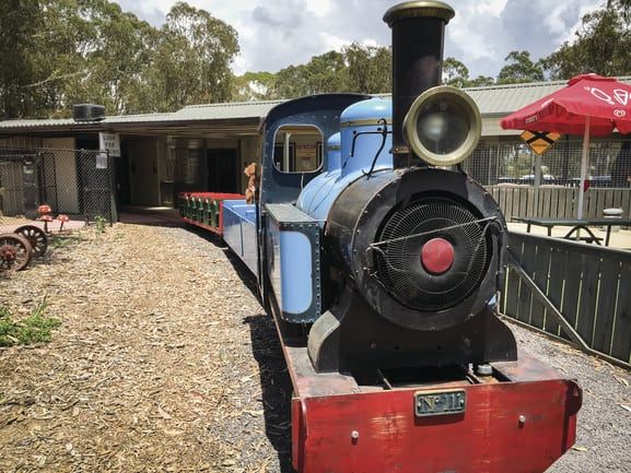 Canberra parks weston train