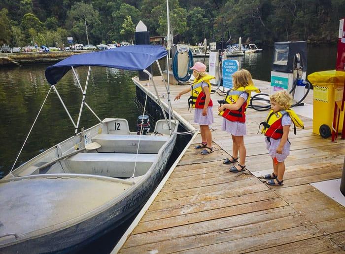 Hire boat at Berowra Creek
