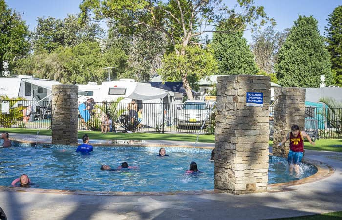 Ocean Beach Holiday Park Umina pools