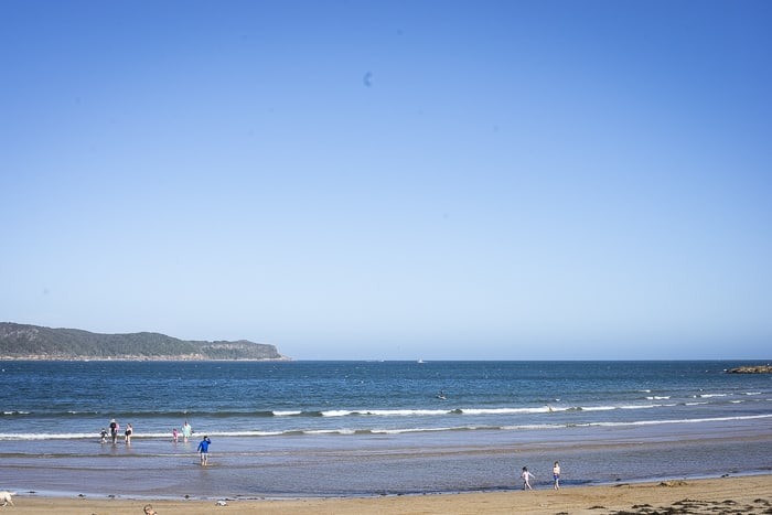 beach beside Umina caravan park