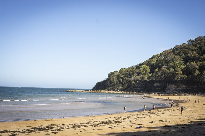 Ocean Beach Umina wide shot beach