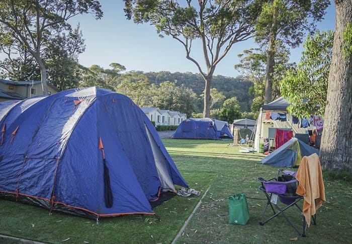 camping at Ocean Beach Holiday Park Umina