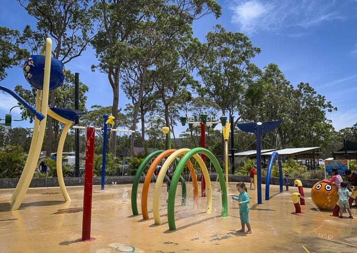 Ocean beach Holiday park water playground