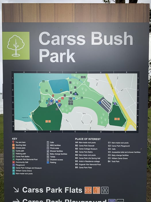 carss park map