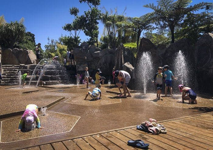 the WILD PLAY Centennial Park water play area