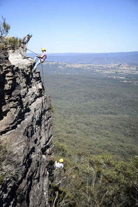 abseiling with kids in Blue Mountains