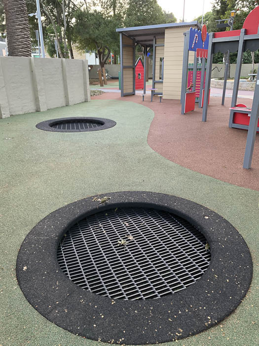 berry reserve playground trampolines