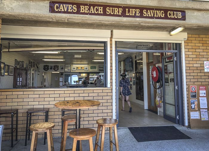 cafe at Caves Beach