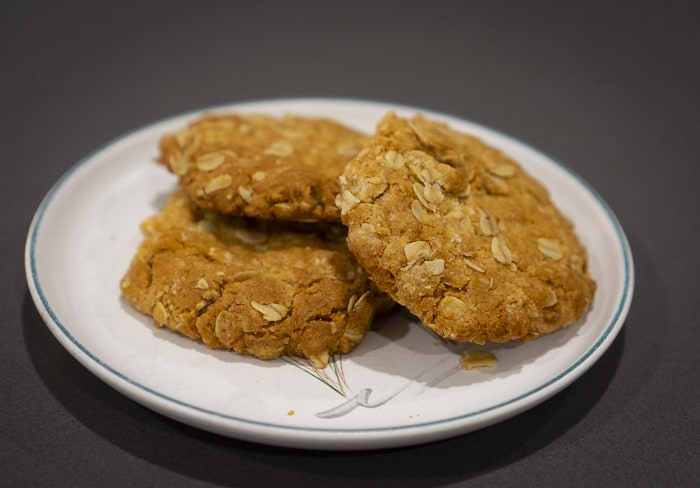 anzac biscuits hot from oven