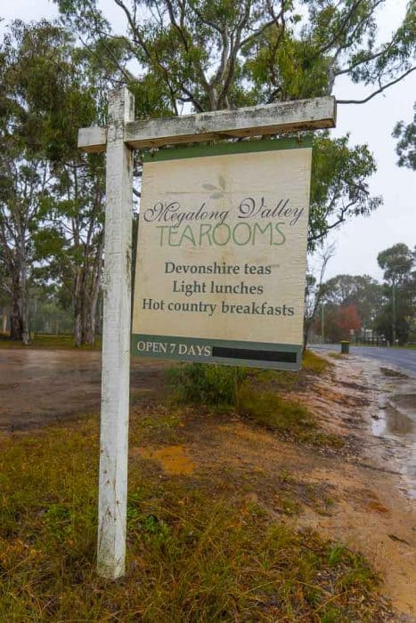Megalong Valley Tea Room sign