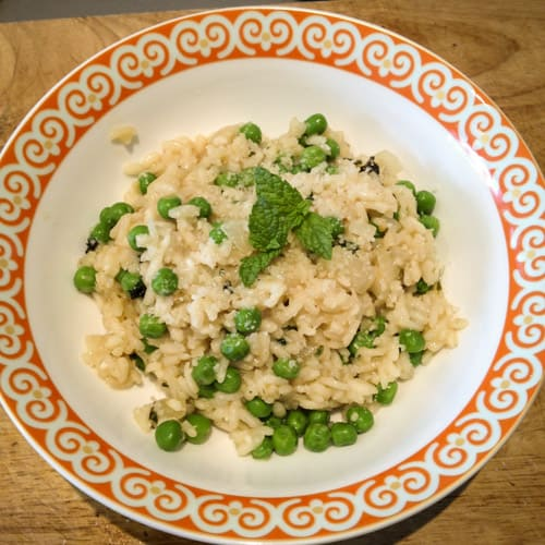 Thermomix Pea and Mint Risotto