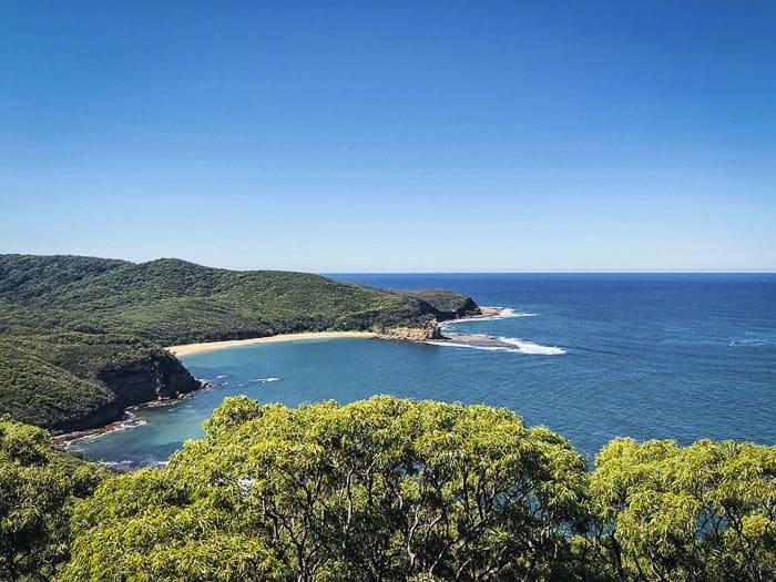 beautiful views over Mainland Bay in Bouddi National Park