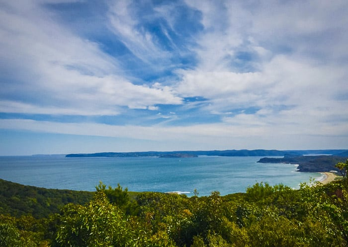 wide views from Mary Byllies Lookout in Bouddi National Park