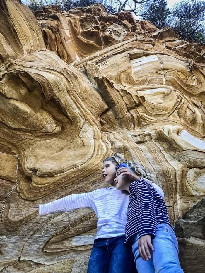 sandstone rock formations in Bouddi National Park