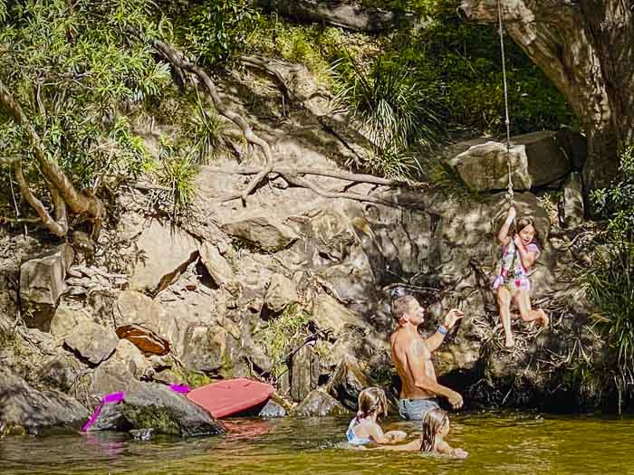 rope swing at Upper Colo River reserve