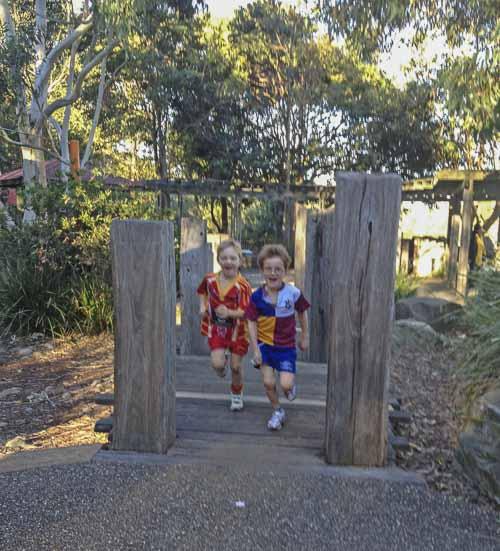 passmore reserve  wooden bridge