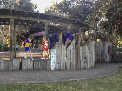 kids playing at Passmore reserve